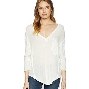 FREE PEOPLE golden gate tee white flowy size med
